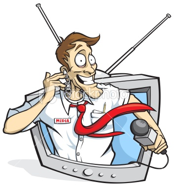 repórter de TV