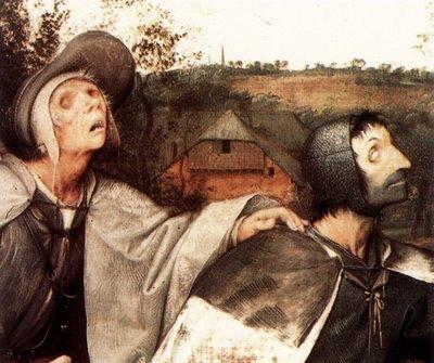 Tela de Bruegel - Cego guiando cego